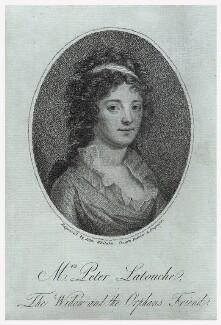 Elizabeth La touche (née Vicars), by John Whitaker - NPG D18415