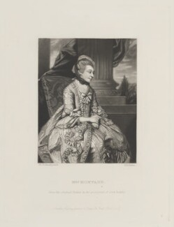 Elizabeth Montagu (née Robinson), by Robert Bowyer Parkes, published by  Henry Graves, after  Sir Joshua Reynolds, published 1867 (1775) - NPG D15243 - © National Portrait Gallery, London