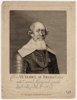 Sir William Brog, after Crispyn van den Queborne - NPG D18417