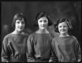 Mary Lilian Manningham-Buller (née Lindsay); Katharine Constance Nicholson (née Lindsay); Barbara Hurst (née Lindsay), by Bassano Ltd - NPG x123042