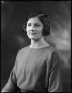 Mary Lilian Manningham-Buller (née Lindsay), by Bassano Ltd - NPG x123044