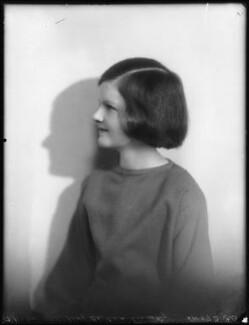 Barbara Hurst (née Lindsay), by Bassano Ltd - NPG x123051