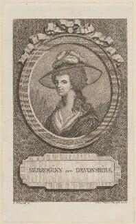 Georgiana Cavendish (née Spencer), Duchess of Devonshire, by L. Schmidt - NPG D15271