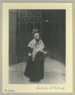 Isabella Lucy Bird Bishop, by Sir (John) Benjamin Stone, July 1899 - NPG x36475 - © National Portrait Gallery, London