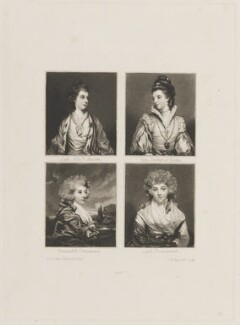 Elizabeth, Marchioness of Lothian; Jane, Duchess of Gordon; Henrietta, Countess of Bessborough; Isabella, Marchioness of Hertford, by Samuel William Reynolds, after  Sir Joshua Reynolds - NPG D15274