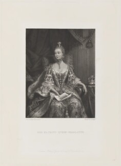 Charlotte of Mecklenburg-Strelitz, by Frederick Bromley, published by  Henry Graves, after  Sir Joshua Reynolds - NPG D15306
