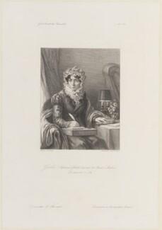 Stéphanie Félicité Ducrest de Saint-Aubin, Comtesse de Genlis, by Jules Porreau, after  L. Massard - NPG D15314
