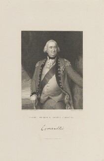 Charles Cornwallis, 1st Marquess Cornwallis, by Samuel Freeman, published by  Fisher Son & Co, after  John Singleton Copley, published 1831 - NPG D15317 - © National Portrait Gallery, London