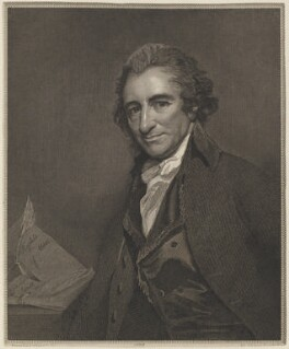 Thomas Paine, by and published by William Sharp, after  George Romney - NPG D15322