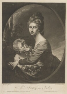 Marian Hastings (née Anna Maria Apollonia Chapuset), by William Dickinson, published by  Carington Bowles, after  Robert Edge Pine - NPG D15323
