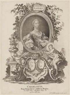 Charlotte of Mecklenburg-Strelitz, by and published by Johann Esaias Nilson - NPG D15325
