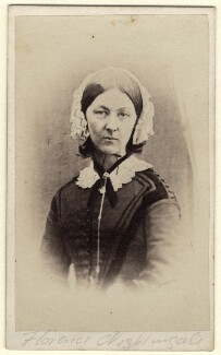 Florence Nightingale, by Henry Hering, printed by  Frederic Jones - NPG x16140
