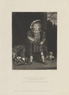 John Crewe, 2nd Baron Crewe, by Samuel William Reynolds, published by  Hodgson, Boys & Graves, sold by  Sir Francis Graham Moon, 1st Bt, after  Sir Joshua Reynolds - NPG D15328