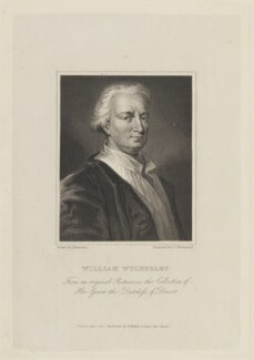 William Wycherley, by J.T. Wedgwood, published by  W. Walker, after  John Thurston - NPG D15329