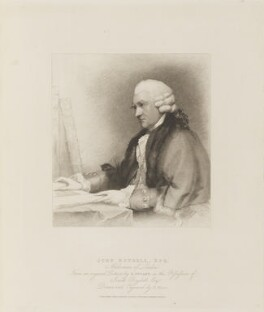 John Boydell, by Henry Meyer, published by  T. Cadell & W. Davies, after  Gilbert Stuart - NPG D15346