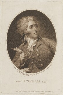 Edward Topham, by Peltro William Tomkins, published by  J.F. Tomkins, after  John Russell - NPG D15347