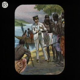 Showing Watch to Natives (David Livingstone), by Unknown artist, published by  The London Missionary Society - NPG D18391