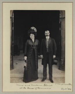Alice Védere Blériot; Louis Charles Joseph Blériot, by Benjamin Stone - NPG x32766