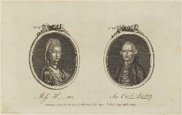 'Miss H-ter. and Sir C- B-p' (Sophia Hunter; Sir Cecil Bishopp, 6th Bt), published by Archibald Hamilton Jr - NPG D15364