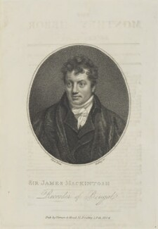 Sir James Mackintosh, by William Ridley, published by  Vernor & Hood, after  John Opie - NPG D15371
