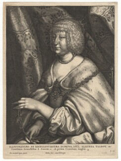 Aletheia Talbot, Countess of Arundel, by Wenceslaus Hollar, after  Sir Anthony van Dyck, 1646 - NPG D18365 - © National Portrait Gallery, London