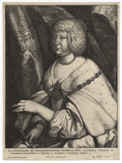 Aletheia Talbot, Countess of Arundel, by Wenceslaus Hollar, after  Sir Anthony van Dyck, 1626 - NPG D18366 - © National Portrait Gallery, London