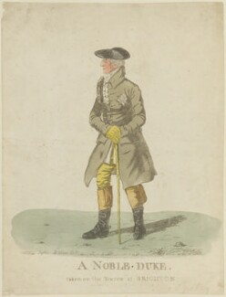 Augustus Henry FitzRoy, 3rd Duke of Grafton ('A noble duke, taken on the Steyne at Brighton'), by and published by Robert Dighton - NPG D15389