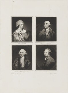 John Baker Holroyd, Earl of Sheffield; Sir William Forbes; Henry Dundas, Viscount Melville; Charles Bingham, Earl of Lucan, by Samuel William Reynolds, after  Sir Joshua Reynolds, circa 1725-1750 - NPG D15390 - © National Portrait Gallery, London