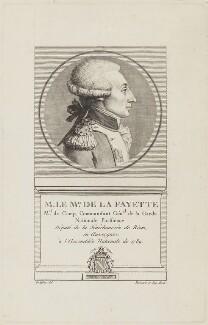Marie Joseph Paul Yves Roch Gilbert du Motier, Marquis de Lafayette, by Jean Massard, after  Godefroy - NPG D15392