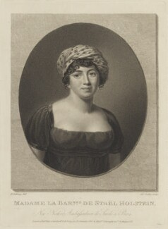 Anne Louise Germaine (née Necker), Madame de Staël-Hollstein, by James Godby, published by  Colnaghi & Co, published by and after  Friedrich Rehberg - NPG D15397