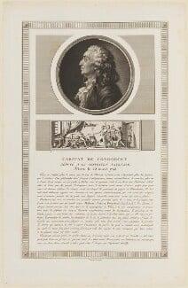 Marie Jean Antoine Nicolas de Caritat, Marquis de Condorcet, by Charles François Gabriel Levachez, and by  Jean Duplessis-Bertaux - NPG D15405