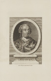 Louis XV, King of France, by Frederick Bromley, published by  John Stockdale, after  Marie Louis Adélaide Boizot - NPG D15410