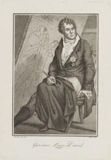 Jacques Louis David, by Giovanni Antonio Sasso, after  Giuseppe Filippo Liberati ('Joseph') Marchi - NPG D15415