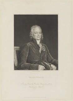 Charles Maurice de Talleyrand-Périgord, Prince de Benevento, by William Henry Mote, published by  Charles Knight, after  Auguste Gaspard Louis Desnoyers, after  François Pascal Simon, Baron Gérard - NPG D15416