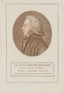 Charles Maurice de Talleyrand-Périgord, Prince de Benevento, by François Bonneville - NPG D15433