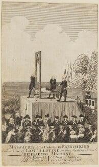 'Massacre of the unfortunate French King' (Louis XVI, King of France; Antoine Joseph Santerre), by Thornton, published by  Alexander Hogg - NPG D15441