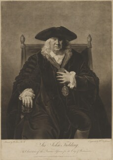 Sir John Fielding, by and published by William Dickinson, and published by  Thomas Watson, after  Matthew William Peters, published 12 November 1778 - NPG D18431 - © National Portrait Gallery, London