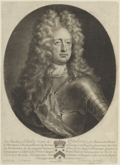 Charles Mordaunt, 3rd Earl of Peterborough, by John Simon, published by  Edward Cooper, after  Michael Dahl - NPG D15445