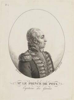 Philippe Louis Marc Antoine de Noailles, Prince de Poix, by Etienne Frederic Lignon, after  Pierre Roch Vigneron - NPG D15465