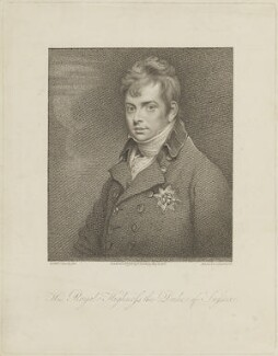 Prince Augustus Frederick, Duke of Sussex, by Marie Anne Bourlier, published by  Edward Harding, after  Sir William Beechey - NPG D15466