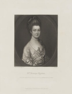 Rachael Egerton (née Russell), Countess of Bridgewater, by James Scott, published by  Henry Graves, after  Thomas Gainsborough - NPG D15470