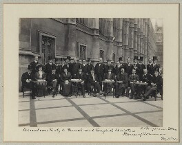'Luncheon party to French and English Aviators', by Sir (John) Benjamin Stone, 15 September 1909 - NPG x126227 - © National Portrait Gallery, London