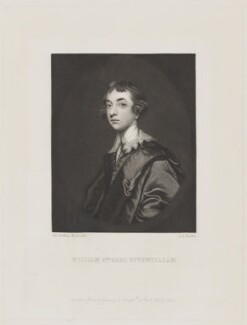 William Wentworth Fitzwilliam, 2nd Earl Fitzwilliam, by Robert Bowyer Parkes, published by  Henry Graves, after  Sir Joshua Reynolds - NPG D15498