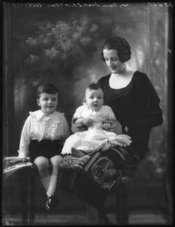 Doreen, Lady Brabourne; John Knatchbull, 7th Baron Brabourne; Norton Knatchbull, 6th Baron Brabourne, by Bassano Ltd - NPG x123293