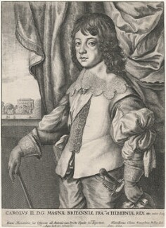King Charles II, by Wenceslaus Hollar, after  Sir Anthony van Dyck - NPG D18444