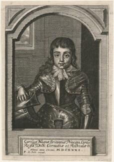 King Charles II, by Pieter de Jode II, after  Sir Anthony van Dyck - NPG D18446