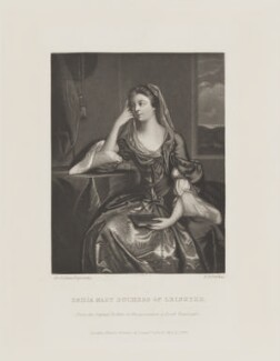 Emilia Mary ('Emily') Fitzgerald (née Lennox), Duchess of Leinster, by Robert Bowyer Parkes, published by  Henry Graves, after  Sir Joshua Reynolds - NPG D15515