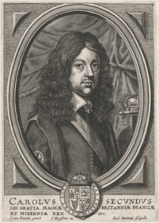 King Charles II, by Frederik Bouttats the Younger, after  Jan van den Hoeck (Hoecke) - NPG D18449
