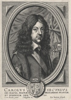 King Charles II, by Frederik Bouttats the Younger, after  Jan van den Hoeck (Hoecke) - NPG D18450
