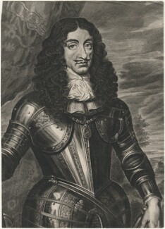 King Charles II, by Cornelis van Dalen the Younger, after  Pieter Nason - NPG D18463